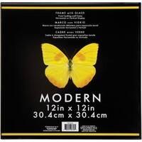 "Black - Modern Plastic W/Glass Photo Frame 12""X12"""