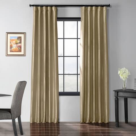 Exclusive Fabrics Blackout Faux Silk Taffeta Curtain