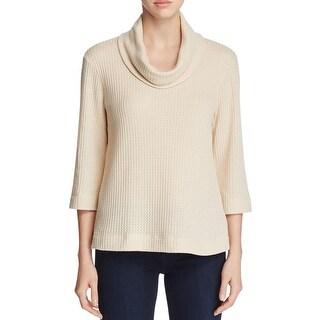 Bobeau Womens Sweater Cowl Neck 3/4 Sleeves