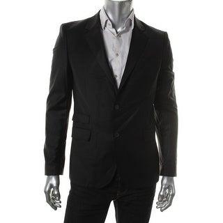 Zara Black Tag Mens Solid Notch Collar Two-Button Blazer - 40