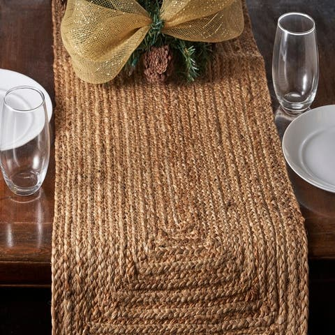 """Classic Braided Natural Table Runner - 1'4"""" x 6'8"""""""