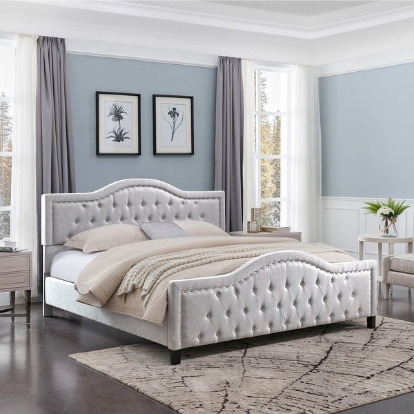 Virgil King Upholstered Traditional Bed by Christopher Knight Home. Opens flyout.
