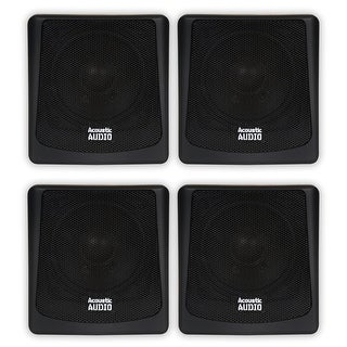 Acoustic Audio AA051B Mountable Indoor / Outdoor Speakers 2 Pair Pack AA051B-2PR