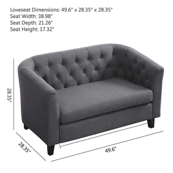 Shop Easy-to-assemble Upholstered Linen Fabric Sleeper Sofa ...