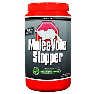 Messina Wildlife MV-G-001 Mole & Vole Stopper Granular Repellent Shaker Jug, 2.5 Lb
