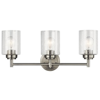 Link to The Gray Barn Saffron 3-light Brushed Nickel Bath/Vanity Light - Brushed nickel Similar Items in Bathroom Vanity Lights