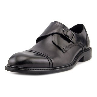 Kenneth Cole Reaction Leave a Message Men  Round Toe Leather Black Oxford