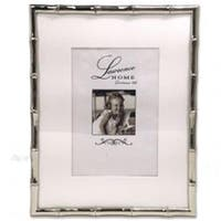 LawrenceFrames 710180 8 x 10 in. Bamboo Picture Frame, Silver