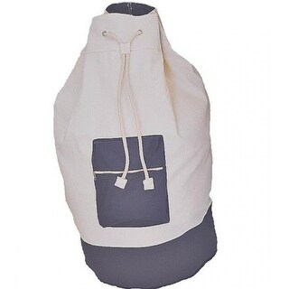 """Homebasix C2F8649000 Cotton Laundry Bag With Strap, 15"""" x 29"""""""