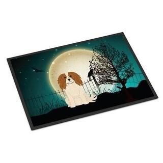 Carolines Treasures BB2248JMAT Halloween Scary Cavalier Spaniel Indoor or Outdoor Mat 24 x 0.25 x 36 in.