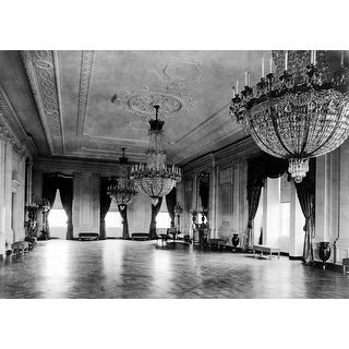 Chandeliers in East Parlor of White House - Vintage Photograph (100% Cotton Towel Absorbent)