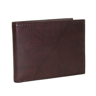 Kenneth Cole Reaction Men's Crunch Leather Philmore Passcase Bifold Wallet - Brown - One Size