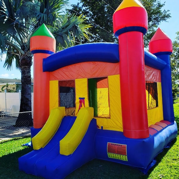 072d392b2a7 Shop Commercial Bounce House 100% PVC 13 x 13 Inflatable Castle Jump with  Blower - Free Shipping Today - Overstock - 17630293