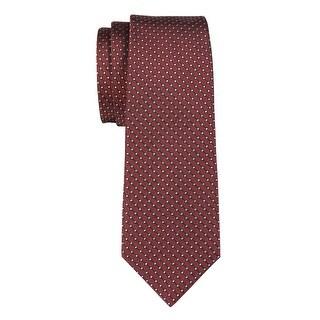 YSL Yves Saint Laurent Silk Diamond Print Tie Burgundy Necktie Made In France