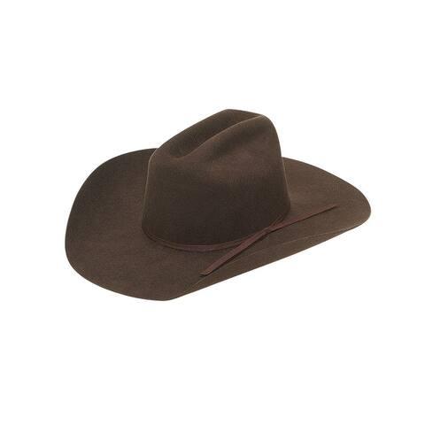 Twister Western Cowboy Hat Kids Junior Wool Felt Chocolate