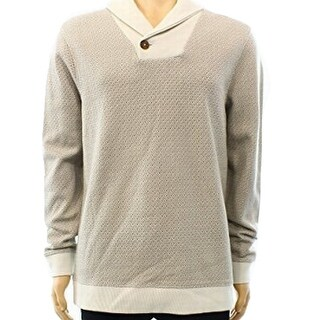 Tasso Elba NEW Beige Mens Size XL Shawl Collar Crewneck Sweater