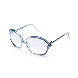 Moschino Bow Detailed Oversized Sunglasses Blue