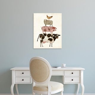 Easy Art Prints Victoria Borges's 'Barnyard Buds IV' Premium Canvas Art