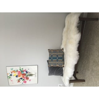 nuLOOM Alexa Double Natural Soft Sheepskin Wool Shag Rug (1'6 x 5'6)