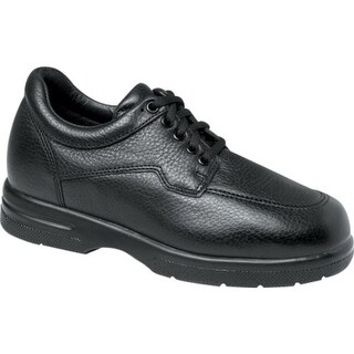 Drew Men's Walker II Black Pebbled Leather