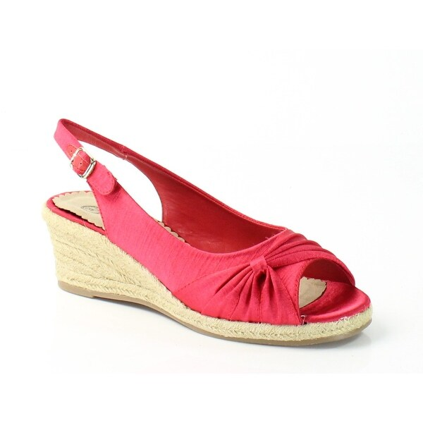 Bella Vita NEW Red Women's Shoes Size 7N Sangria Silk Slingbacks