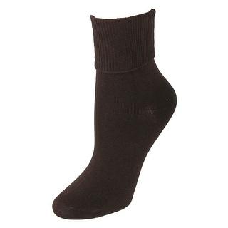 Jefferies Socks Women's Organic Cotton Turn Cuff Socks