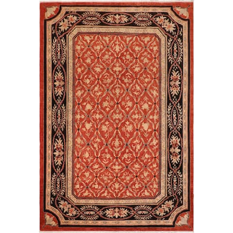 Ziegler Transitional Mable Rust/Black Hand knotted Rug - 10'5 x 13'8 - 10 ft. 5 in. X 13 ft. 8 in.