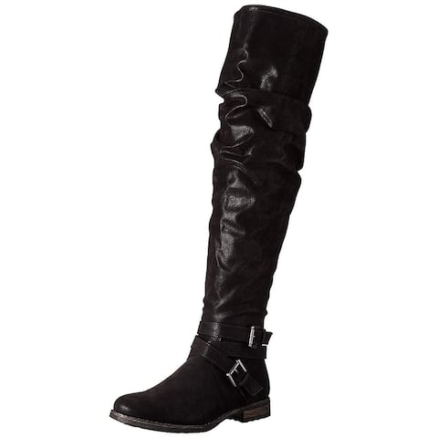 Carlos by Carlos Santana Womens Sana Almond Toe Over Knee Fashion Boots