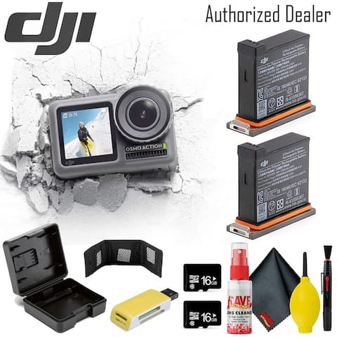 DJI Osmos Action Camera - Battery(2) Case Reader - 16GBx2 - Clean
