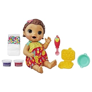 Link to Baby Alive Super Snacks Snackin' Lily Baby: Blonde Baby Doll That Eats, With Reusable Baby Alive Doll Food, Spoon And 3 Similar Items in Dolls & Dollhouses