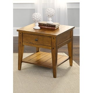 Link to Lake House Oak Finish Rustic End Table Similar Items in TV Stands & Entertainment Centers
