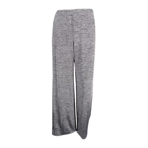 MSK Women's Glittered Marled Knit Wide-Leg Pants