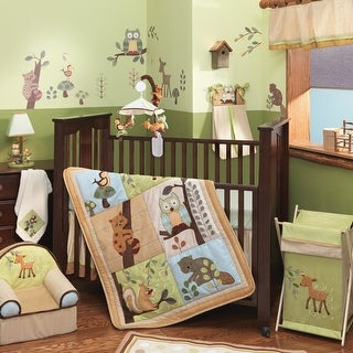 Lambs & Ivy Brown Enchanted Forest 6-Piece Crib Bedding Set