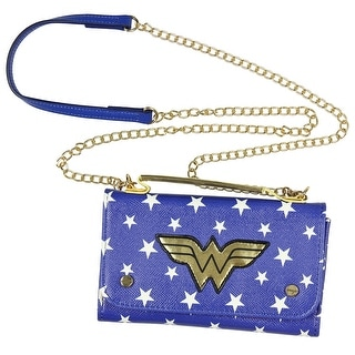 Dc Comics Wonder Woman Crossbody Wallet Clutch Blue White Free Shipping On Orders Over 45 17353758