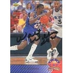 Walt Williams Sacramento Kings 1993 UD Top Prospects Autographed Card This item comes with a certificate of authentic