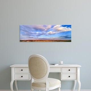 Easy Art Prints Panoramic Images's 'Train passing through a desert, New Mexico, USA' Premium Canvas Art