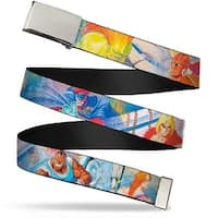 Blank Chrome Buckle Street Fighter 8 Character Animation Webbing Web Belt