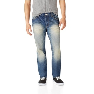Link to Aeropostale Mens Essex Denim Straight Leg Jeans Similar Items in Pants