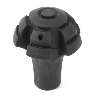 Unique Bargains Outdoor Rubber Mushroom Shaped Hiking Tip Protector Trekking Pole Cap Black