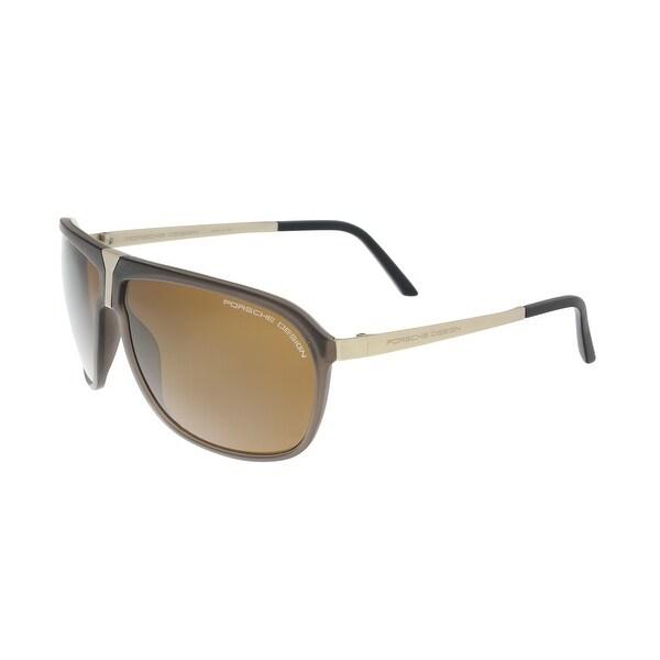 Porsche P8618-C Gold/Brown Aviator Sunglasses - 64-9-140