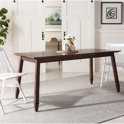 """SAFAVIEH Brayson Mahogany Wood Rectangle Dining Table - 66.9"""" x 31.5"""" x 29.5"""""""