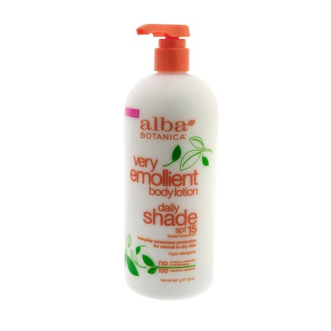 Alba Very Emollient Body Lotion 32 Ounce Daily Shade SPF 15