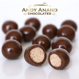 Link to Andy Anand Belgian Dark Chocolate Triple Dipped Malt Balls Gift Boxed & Greeting Card 1lbs Similar Items in Gourmet Food Baskets
