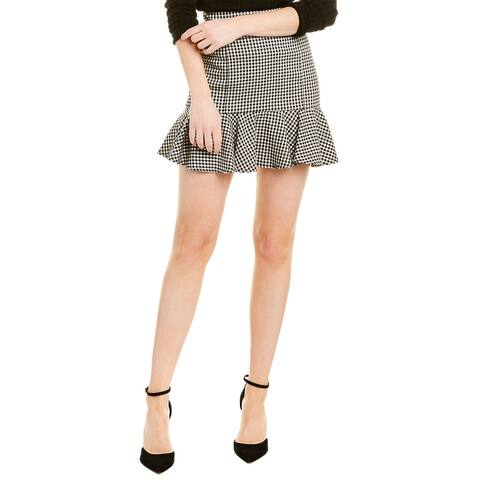 Veronica Beard Gingham Mini Skirt