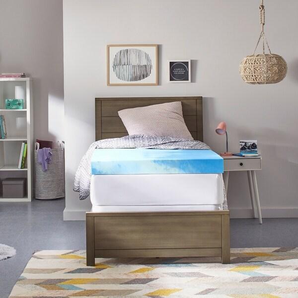 Comfort Revolution Twin XL-size Dorm Memory Foam Mattress Topper. Opens flyout.