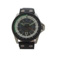 Diesel Dz1717 Rollcage Black Leather Strap Watch Watch For Men