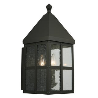 Link to Eglo Creston Creek 18.75-Inch Outdoor Wall Light with Matte Black Finish and Clear Seeded Glass Similar Items in Outdoor Wall Lights