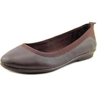 Easy Spirit Keomi Women Round Toe Leather Brown Flats