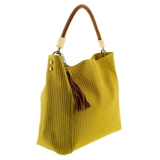 HS2070 GL GRAZIA Yellow Leather Hobo Shoulder Bag