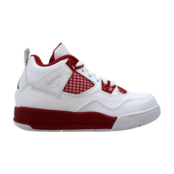63f1cfcab59c Shop Nike Air Jordan IV 4 Retro BP White Black-Gym Red Alternate ...